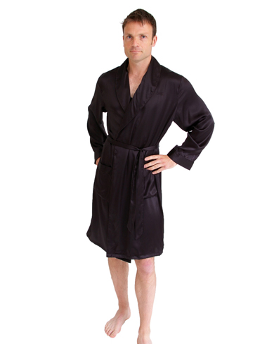 Short Silk Dressing Gown - Men - Nightwear - Dressing Gowns - The ...