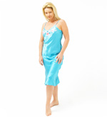 Embroidered Silk Night Gown  - Clearance
